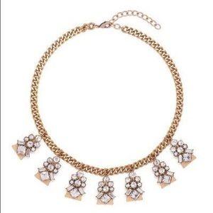 Jewelmint Crystal Nouveu bronze statement necklace